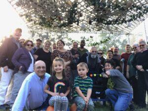 Sukkot celebration - We all fit under the sukkah