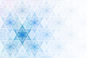 Graphic with Jewish stars